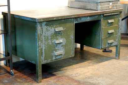 vintage metal furniture for the contemporary worker - steel