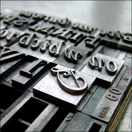 Letterpress material by Justin Knopp
