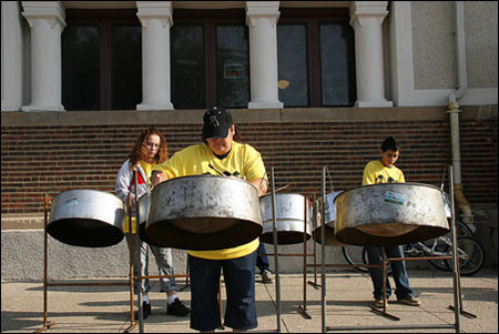 Steel Drum Band by tullykmt, Flickr