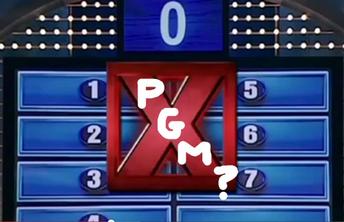 family feud survey says board PGM