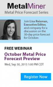 October Metal Price Forecast Preview Webinar