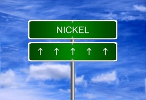 Nickel price investment trading arrow going up rising strong ind