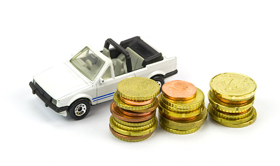 Volkwagen Rabbit toy with coins.