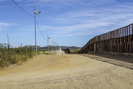 U.S.-Mexico border wall in Arizona.