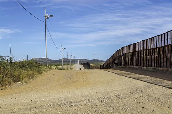 U.S.-Mexico border wall in Arizona.