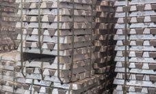 aluminum ingot stacked for export