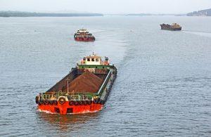 India iron ore barge
