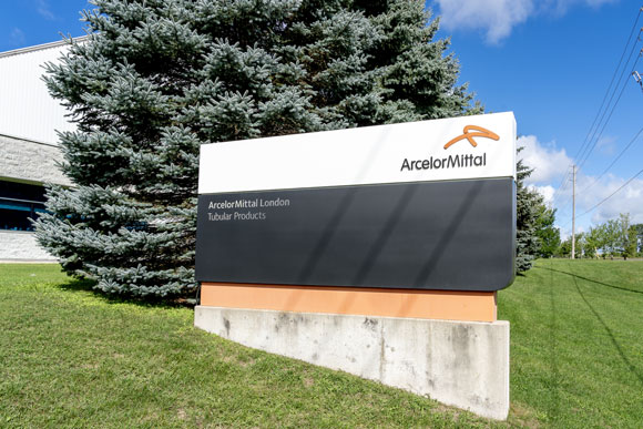 ArcelorMittal sign in Ontario