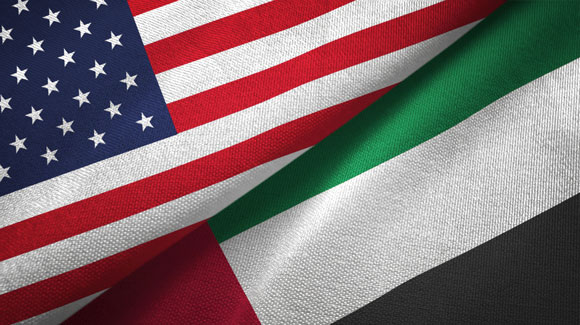 US and UAE flags