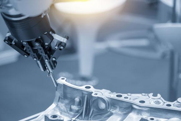 robot building automotive aluminum component