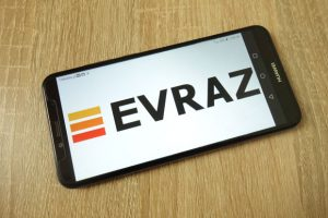 Evraz company name on phone screen