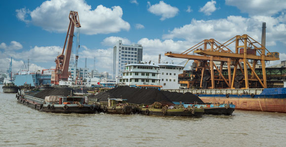 rare earths loaded on cargo ship in China