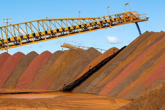 iron ore stockpile