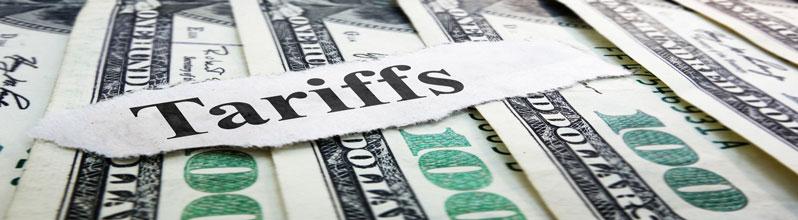 tariffs headline over $100 bills