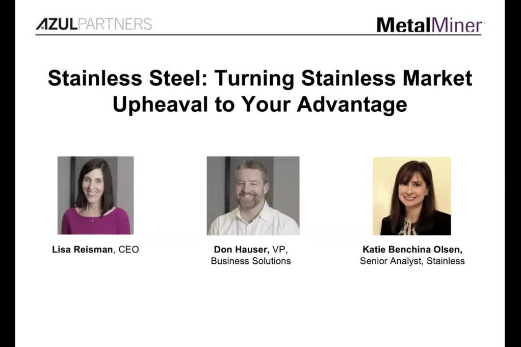 Stainless Steel: Turning Stainless Market Upheaval to Your Advantage slide image