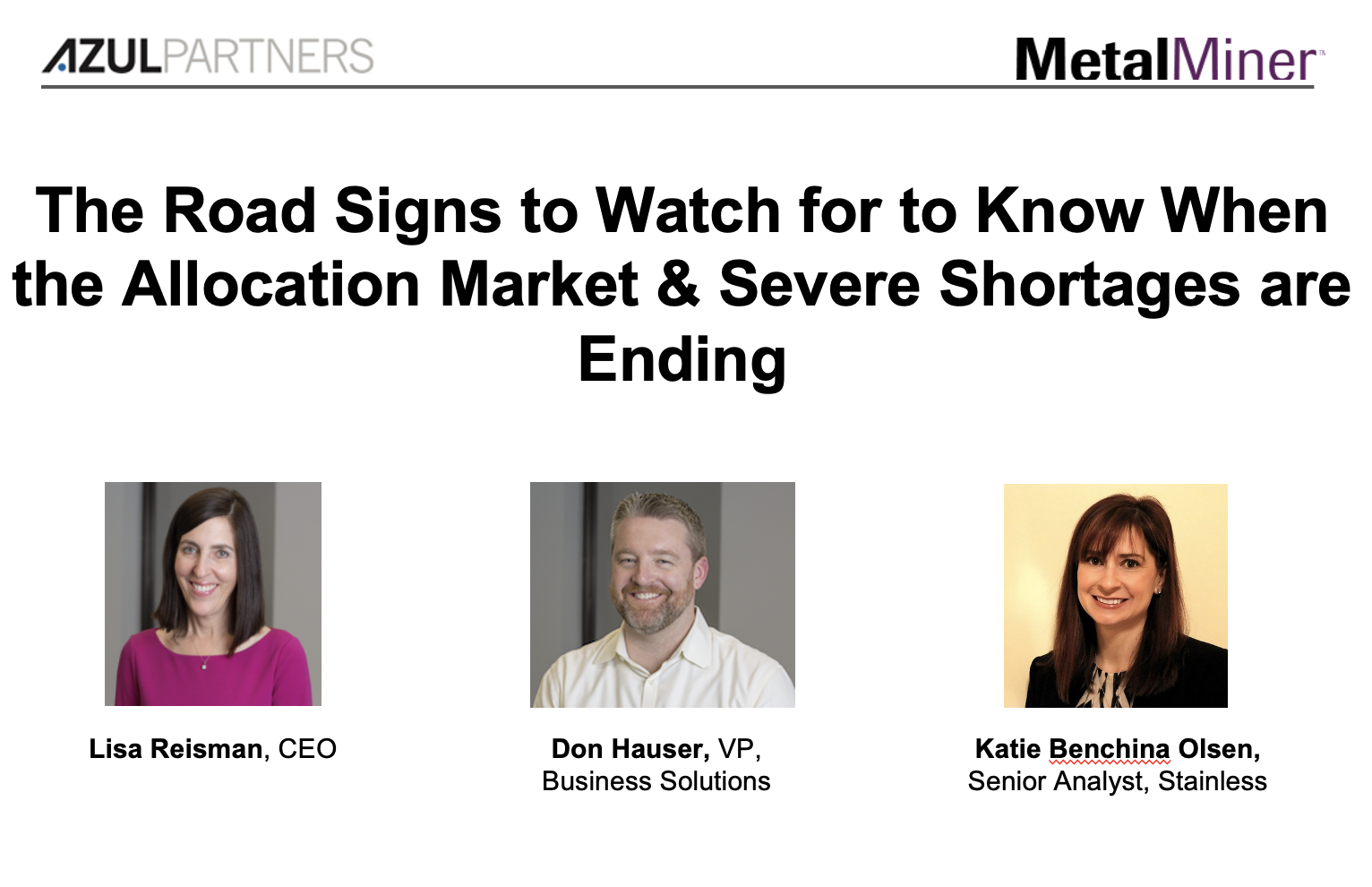 The Road Signs to Watch for to Know When the Allocation Market & Severe Shortages are Ending slide image