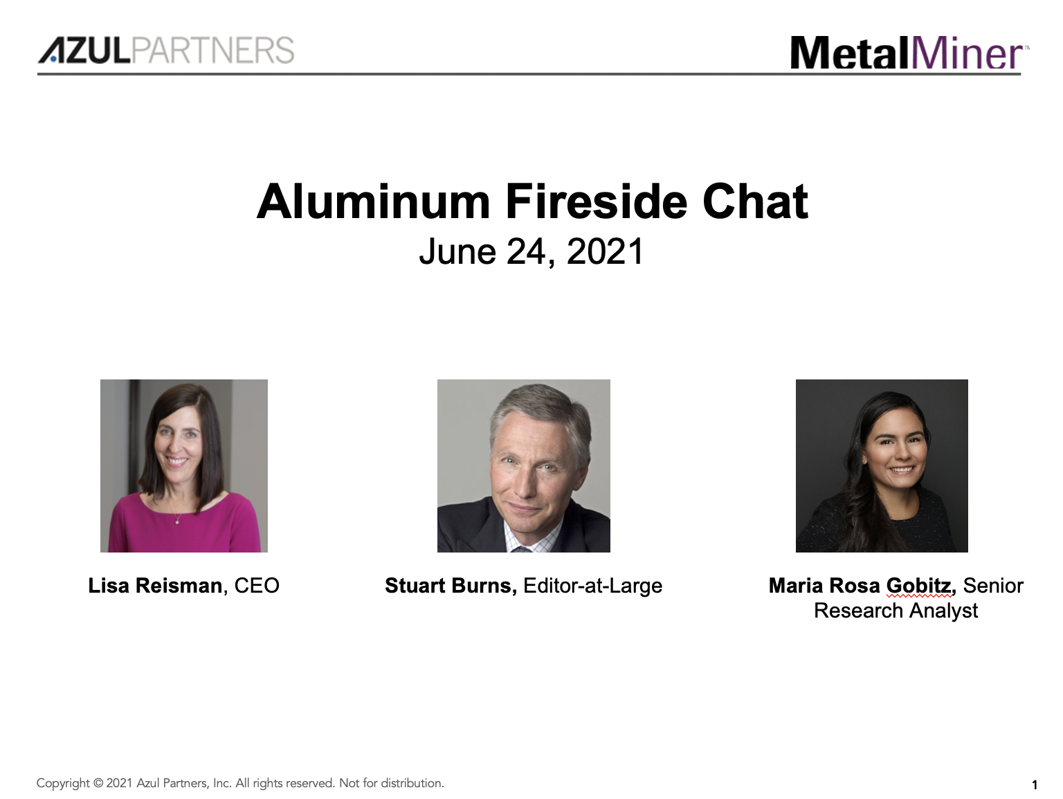 Aluminum Fireside Chat slide image
