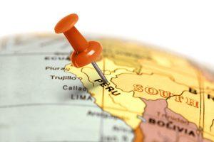 Peru on a map