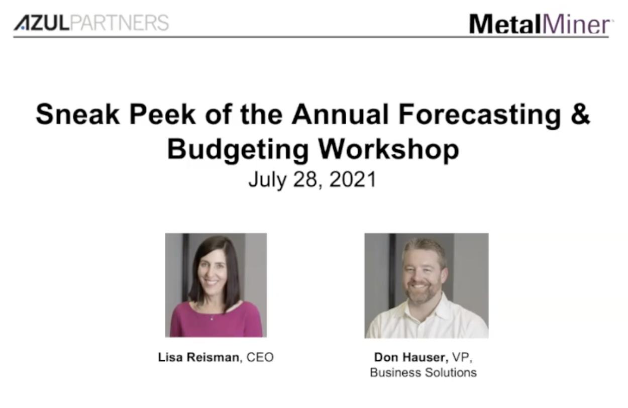 Sneak Peek of 2022 Annual Budgeting & Forecasting Workshop slide image