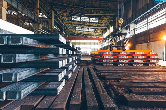 Chinese steel factory
