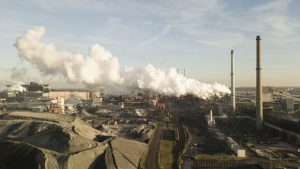 Tata Steel plant in IJMuiden, Netherlands