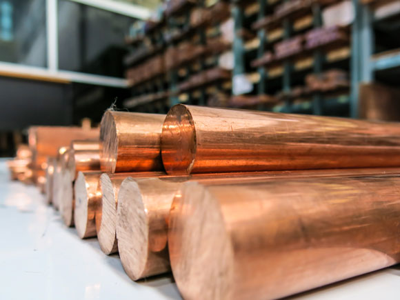 copper stored in warehouse
