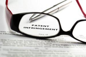 patent infringement graphic concept